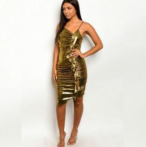 Sale! Gold Diva Dress Bodycon